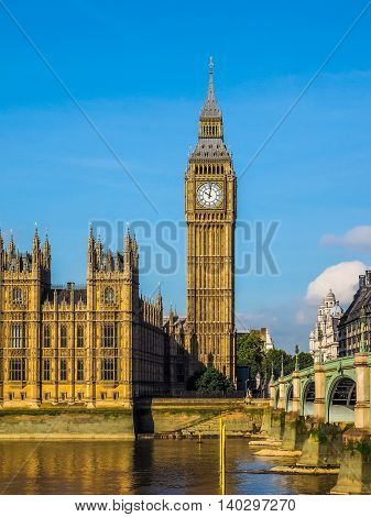 Westminster Bridge And Houses Of Parliament In London Hdr