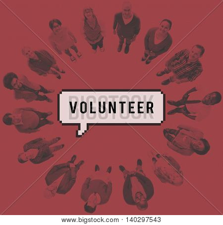 Volunteer Social Support Help Service Concept
