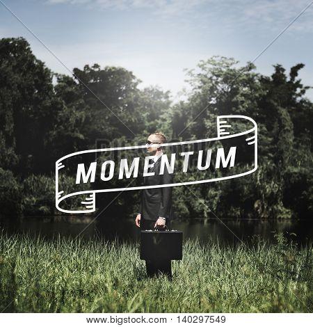 Momentum Business Goal Management Vision Concept