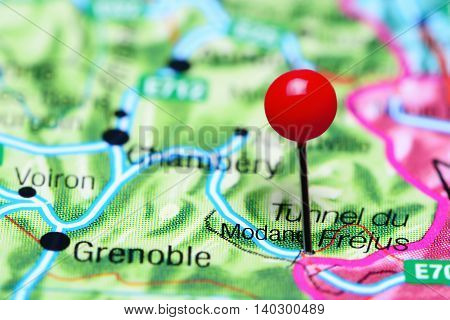 Modane pinned on a map of France