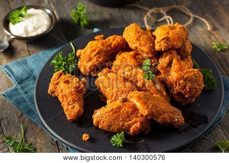 Spicy Deep Fried Breaded Chicken Wings