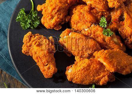 Spicy Deep Fried Breaded Chicken Wings