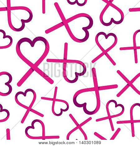 Breast Cancer Love Ribbon Background For Support