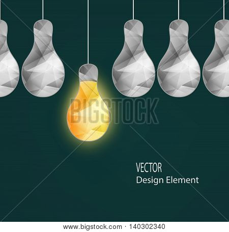 Abstract Crystal Electrical Bulbs Concept Idea Lamp