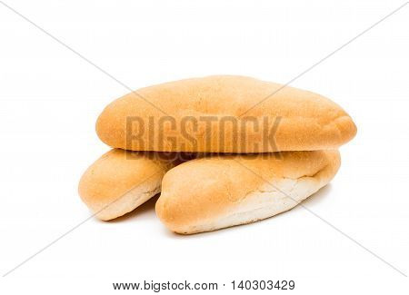 hot dog bun on a white background