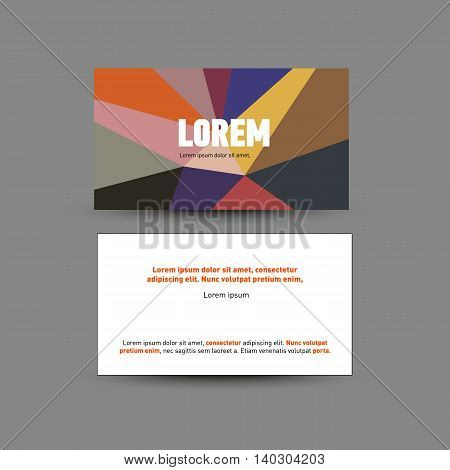 Template for advertising and corporate identity. Visit card design. Blank mockup for design. Vector white object