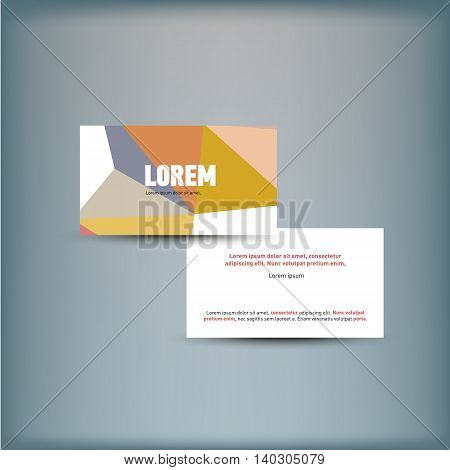 Template for advertising and corporate identity. Visit card. Blank mockup for design. Vector white object