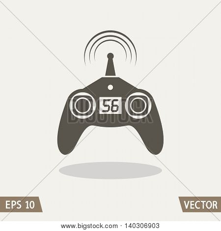 Remote control radio car drone fly and toy icon isolated on light background. Vector illustration for web logo and packing design.