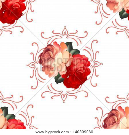 Seamless floral pattern in russian traditional style. vector illustration.