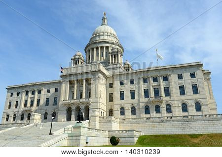 Rhode Island State House, Providence, Rhode Island, USA. Rhode Island State House was constructed in 1904 with Georgian style.