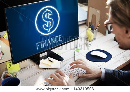 Finance Investment Money Cash Icons Graphics Concept