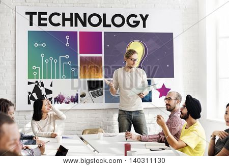 Technology Cyberspace Network Concept