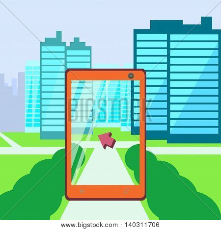 Search using your phone way augmented reality city in phone