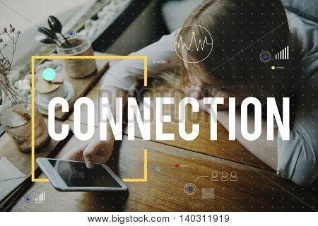 Technology Connecting Cloud Network Concept