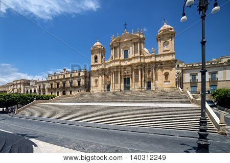 Baroque Cathedral Of Saint Nicholas, In Noto