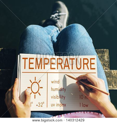 Temperature Heat Hot Weather Climate Concept