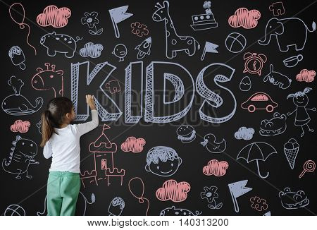 Kids Children Joy Happy Child Concept