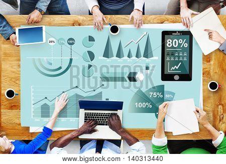 Analytics Marketing Business Report Concept