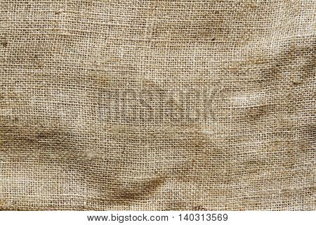 Closeup of burlap hessian sacking
