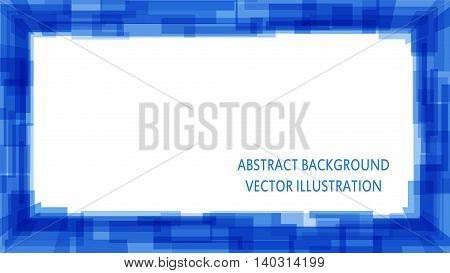 blue abstract squared background for your presentation