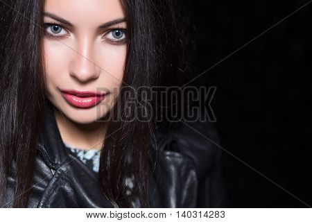 Portrait Of Sexy Young Brunette