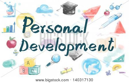 Personal Development Strategy Learning Research Concept