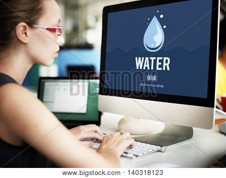 Water Drop Recycling Save Ecology Concept