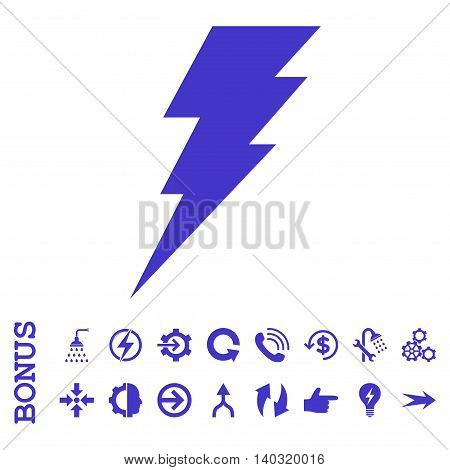 Execute glyph icon. Image style is a flat iconic symbol, violet color, white background.