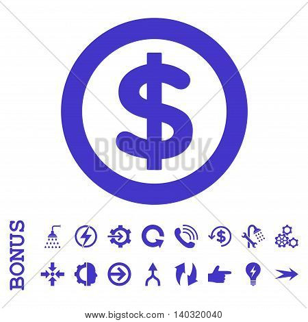 Finance glyph icon. Image style is a flat iconic symbol, violet color, white background.