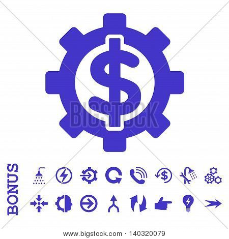 Financial Options glyph icon. Image style is a flat iconic symbol, violet color, white background.