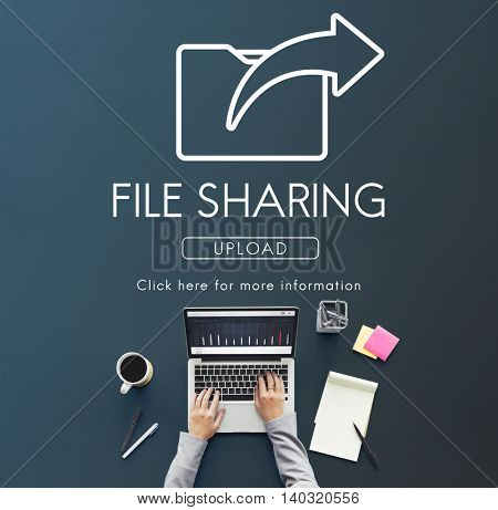 Data Transfer Exchange Sharing Sync Upload Concept