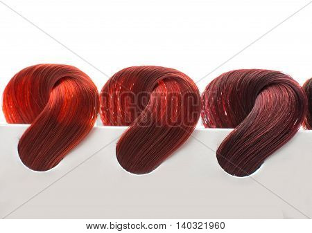 hair samples of different colors studio, samples, black
