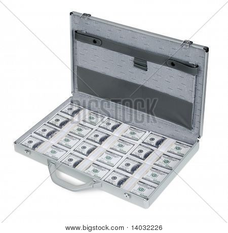 A briefcase full of One Hundred Dollar Bills U.S.