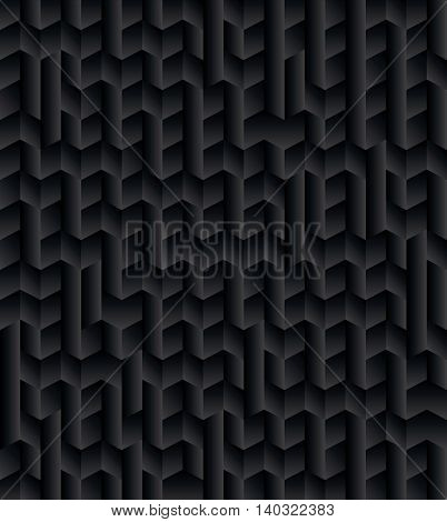 Black Abstract Geometric Pattern Background