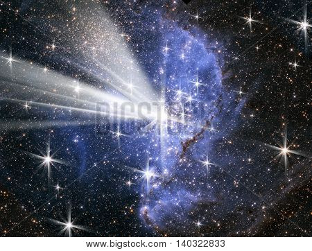 conceptual image of space, stars and light. Furnished NASA image used for this image