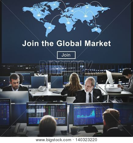 Join Global Market Campaign Commercial Digital Concept