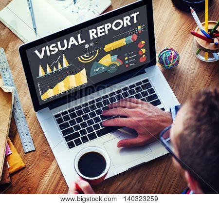 Visual Report Percentage Business Chart Concept