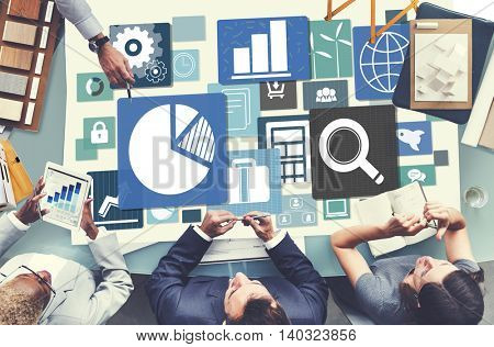 Business Statistic Meeting Planning Analysis Concept