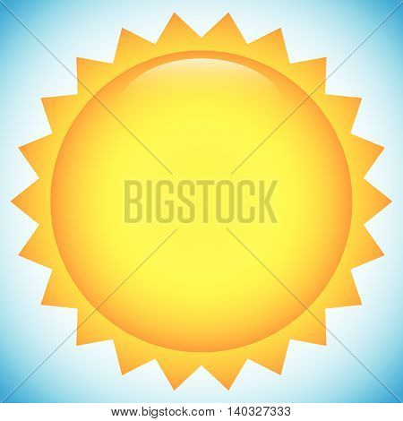 Simple Sun Clip-art, Illustration For Summer, Weather, Nature, Outdoor Related Designs
