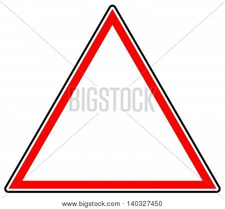 Generic Red Prohibition, Restriction Sign. Road Sign With Empty Space.