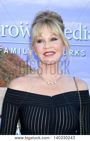LOS ANGELES - JUL 27:  Melanie Griffith at the Hallmark Summer 2016 TCA Press Tour Event at the Private Estate on July 27, 2016 in Beverly Hills, CA