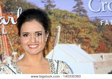 LOS ANGELES - JUL 27:  Danica McKellar at the Hallmark Summer 2016 TCA Press Tour Event at the Private Estate on July 27, 2016 in Beverly Hills, CA