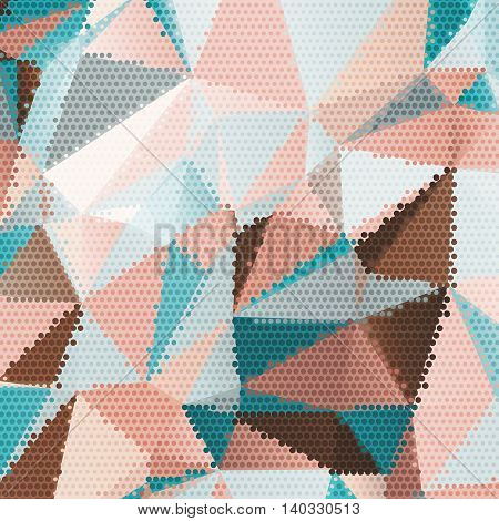Abstract background with triangles and colorful geometric shapes. Texture pattern for covers, banners, booklets, etc. For web or printed media.