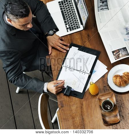 Businessman Working Leadership Strategy Concept