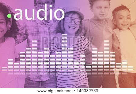 Audio Digital Equalizer Music Tunes Sound Wave Graphic Concept