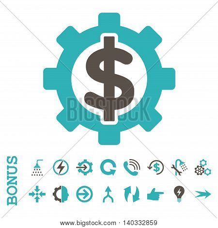 Financial Options vector bicolor icon. Image style is a flat iconic symbol, grey and cyan colors, white background.