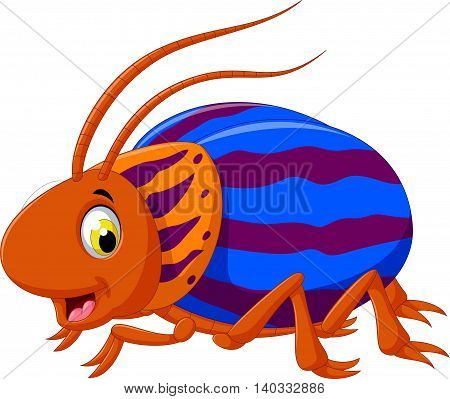 cute saperda beetle cartoon posing for you design