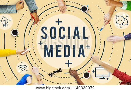 Social Media Online Network Technology Graphic Concept