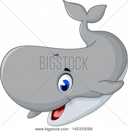 cute gray cartoon smiling for you design