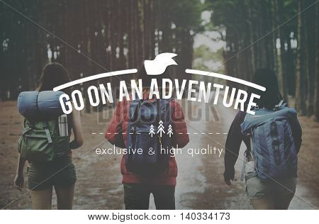 Go on Adventure Traveling Exploration Journey Concept